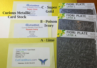Card stock used for green and gold card